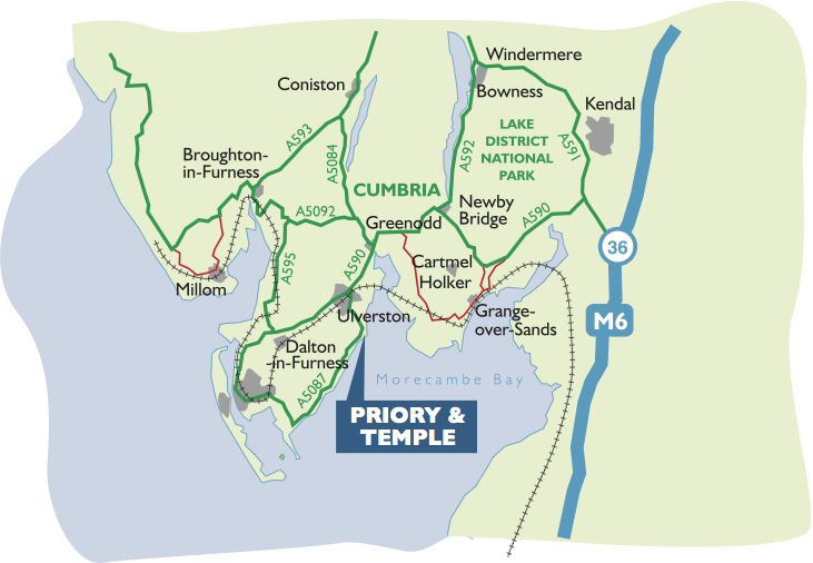 Cumbria Map Priory Leaflet Colours 2